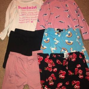Toddler Bundle 6PC Girls clothes Size 3/4T